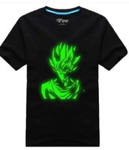 Anime hot Dragon Ball  Luminous goku cosplay tshirt shirt costume dragonball  tee