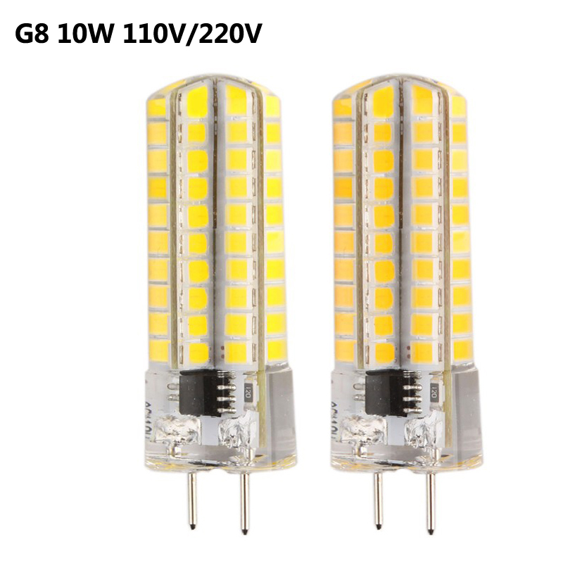110V 220V SMD2835 80leds 10W Dimmable <font><b>G8</b></font> <font><b>LED</b></font> light Bulb lamp Replace for Chandelier Crystal Lamp 360 Beam Angle 5pcs/lot image