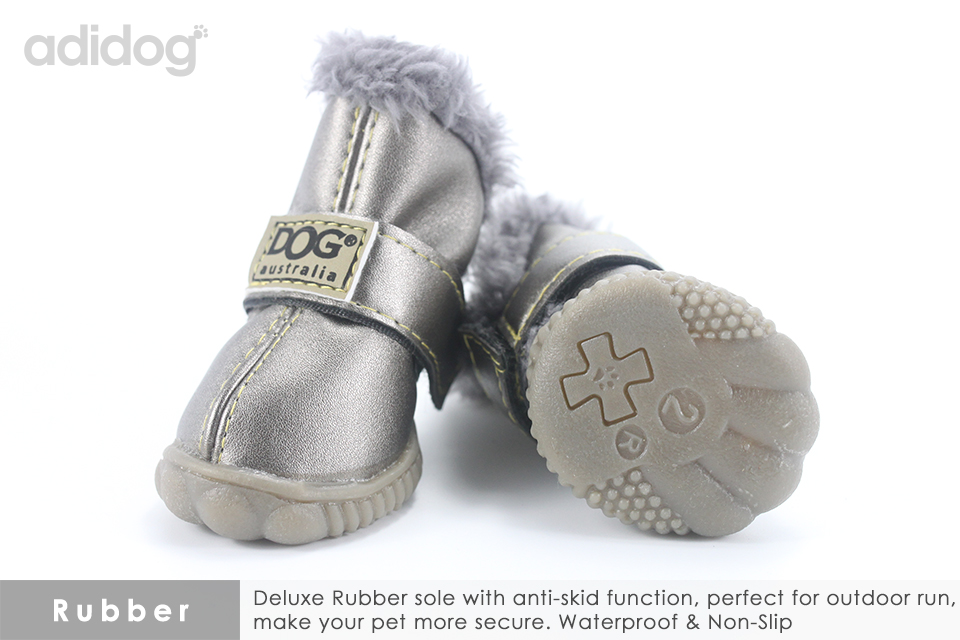 Pet Dog Shoes Winter Super Warm 4pcs set Dogs Boots Cotton Anti Slip XS 2XL Shoes for Small Pet Product ChiHuaHua Waterproof 303