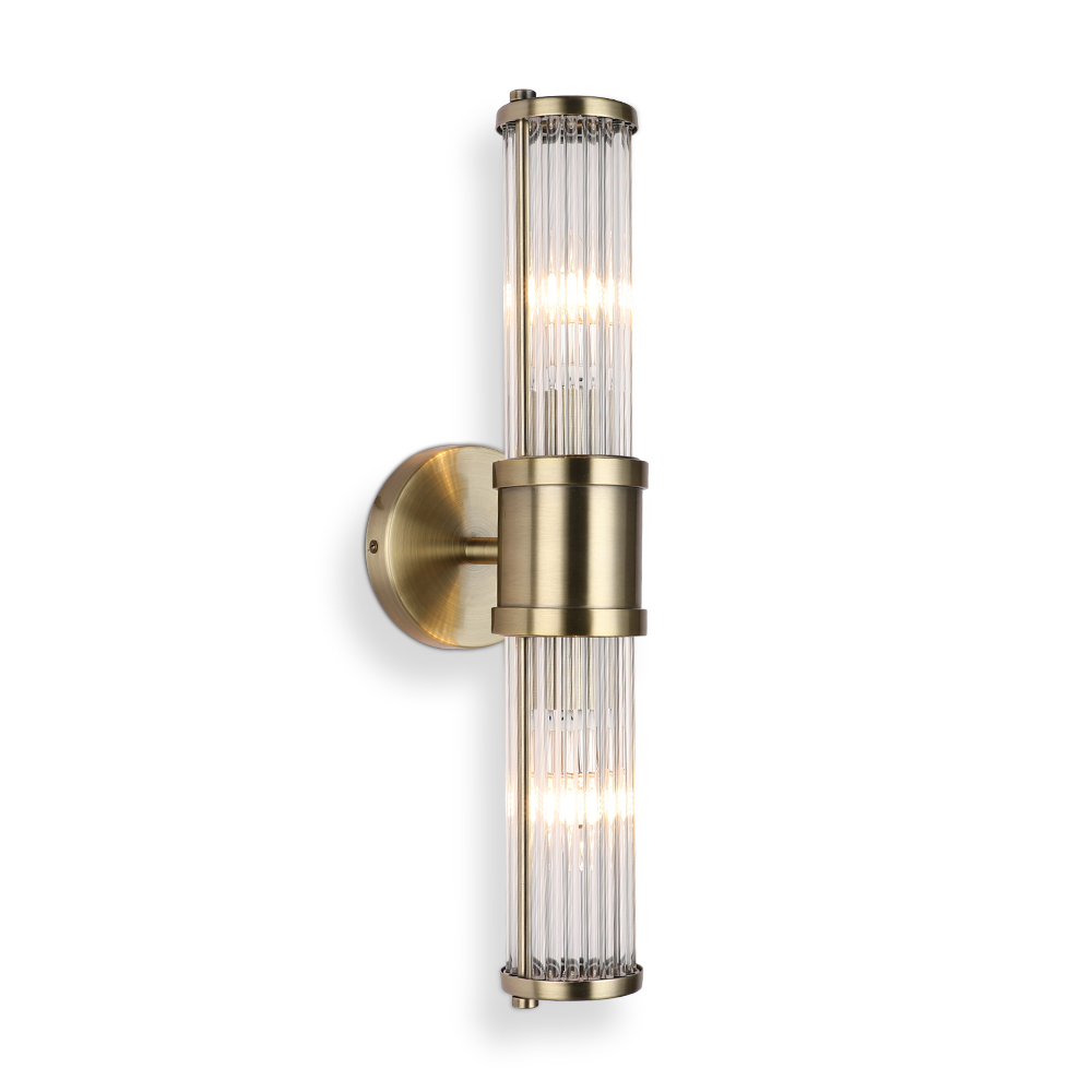 JUSHENG Modern Lustre Crystal Wall Lamp Bronze/Silvery Bedroom Led Wall Lights Fixtures Living Room Wall Sconce Lights