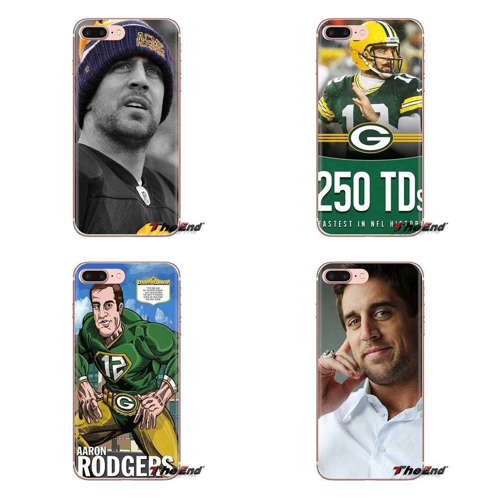 Aaron Rodgers Green Bay Packers Casos De Telefone de Silicone Capa Para iPod Touch Da Apple iPhone 4 4S 5 5S SE 5C 7 6 6 S 8 X XR XS Mais MAX
