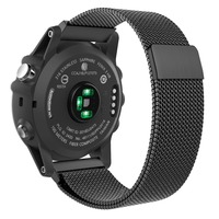 Leonidas Milanese Loop For Garmin Fenix 3 Fenix 5x Watch Replacement Band Strap With Lugs Adapters
