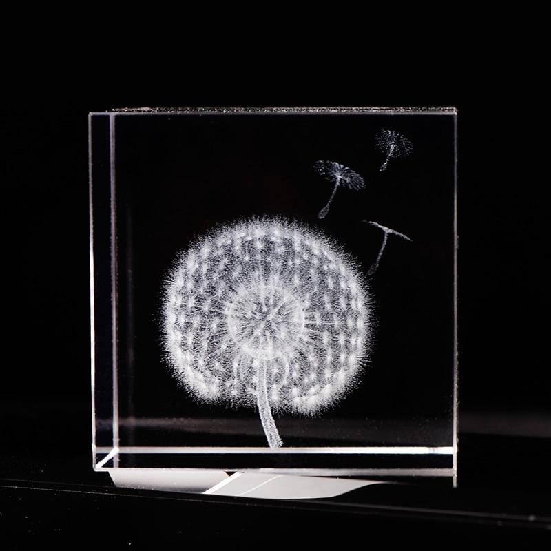 6cm Crystal Πικραλίδα Cube Crafts 3D Laser - Διακόσμηση σπιτιού - Φωτογραφία 1