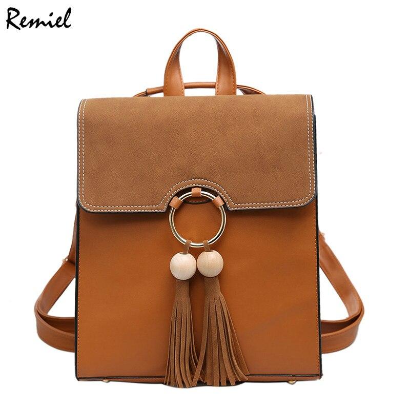 Fashion Women Backpack Bag 2017 PU Leather Women Backpack Retreat College Wind Teenage Girl High Quality