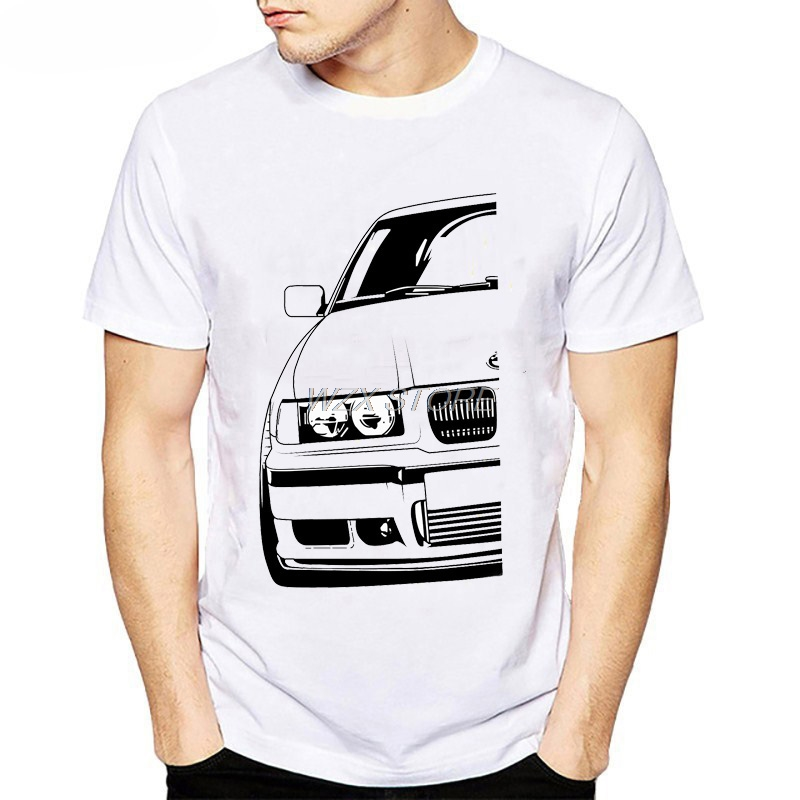Cool Automotive Racing Car Turbo E30 E36 E46 T Shirt Men T-shirts Plus Size Tee Shirt Homme Classic Vintage TShirt Men Camisetas