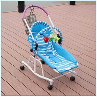 Multi function Newborn Baby Rocking Chair Cradle Baby Walker Stroller Baby Bouncer Chair Lounger Infant Swing Wheelchair 0 19 M