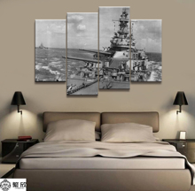 4 Panel Military USS Iowa Navy War Weapon Poster Printed Painting For Living Room Wall Art Decor Picture Artworks Poster 4 panel military uss missouri navy war weapon poster printed painting for living room wall art decor picture artworks poster