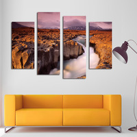 The Golden Rift Valley Frameless Picture Wall Art DIY Canvas Oil Painting Home Decor For Living