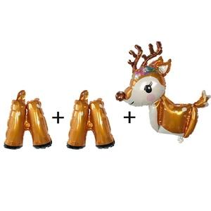 Image 2 - New 3D Dễ Thương Deer Helium bóng bay Lá Phim Hoạt Hình Động Vật Nai Sừng Tấm Bóng Sinh Nhật Bé Tắm Wedding Party Nguồn Cung Cấp Trang Trí