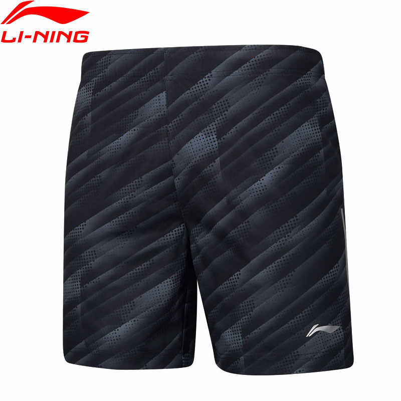 (Clearance)Li-Ning Men Badminton Competition Shorts 100% Polyester Regular Fit AT DRY LiNing Sports Shorts AAPP061 MKD1609
