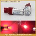 T20 7443 LED Rojo Intermitente Estroboscópica Trasera Parpadea Luces de Freno De Parada de La Cola Del Coche de Seguridad de Alerta