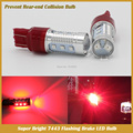 T20 7443 Red LED Flashing Strobe Blinking Rear Alert Safety Brake Tail Stop Car Lights