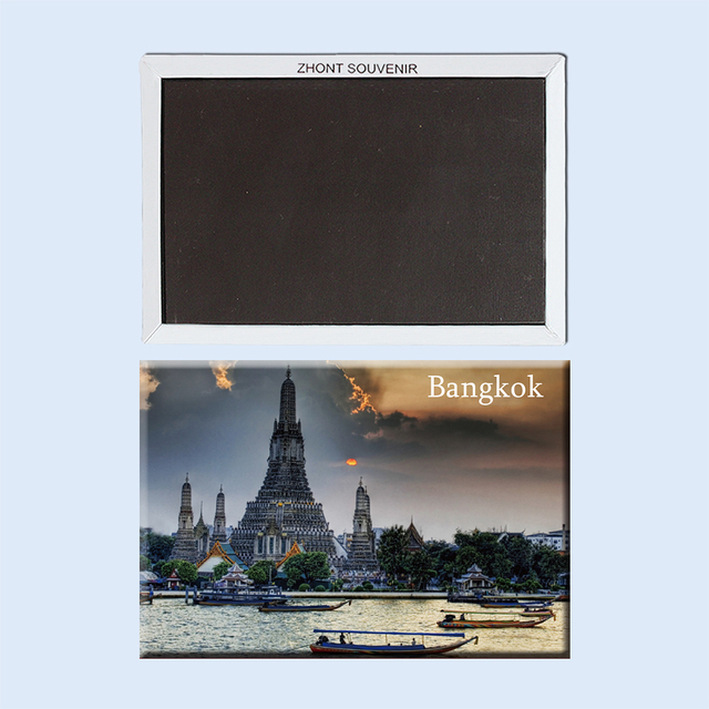 בנגקוק תאילנד בין הערביים נוף עיר יפה 22967 מגנטי מקרר מזכרות נסיעות