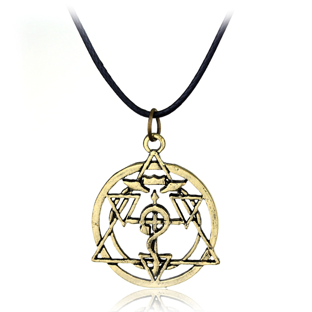 Anime Fullmetal Alchemist Edward Hollow Personality Pendant Necklace Pendant Necklace High Quality Retro Jewelry Christmas Gift