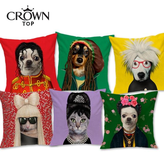 Estilo europeu Moderno Cão E Gato Almofada Carro Sofá Decorativa Throw Pillow Home Decor Para O Varejo