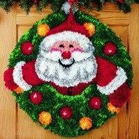 1th Envío Libre Kit Alfombra Gancho Unfinished Ganchillo Hilo Estera Kit Alfombra Esmirna Floor Mat Alfombra de Santa Claus Imagen conjunto