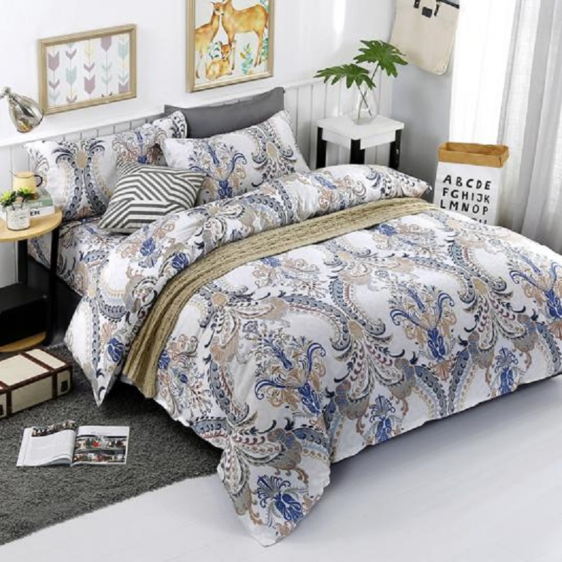 Winter Use Warm Bedding Set 3 4 Pcs Bed Sheet Pillowcases Duvet Cover Set Butterfly Feather Pattern Bed Linen Single Full Queen