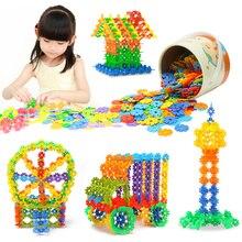 Blocks building разведки puzzle снежинка обучающие пластиковые игрушки шт.