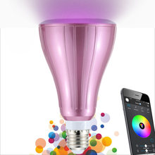 Novelty Smartphone App Control Smart Bluetooth RGBW LED Bulb BT Speaker Dimmable Music Lamp for iPhone 6s/Plus Samsung Galaxy(China)