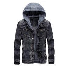 2018 Горячие осень-зима джинсовая куртка Для мужчин с капюшоном Повседневное теплые Для мужчин джинсовая куртка пальто