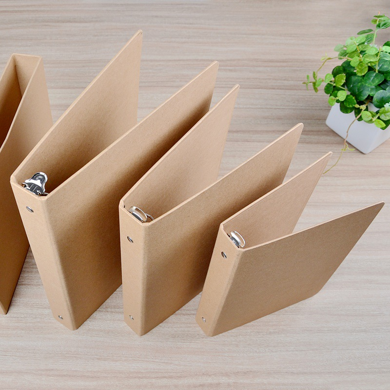Creative Vintage A4/A5/B5/A6  Kraft Folder Documents( No Sheets) 4 Design Kraft Binder With Slip Case Box Office School Supplies