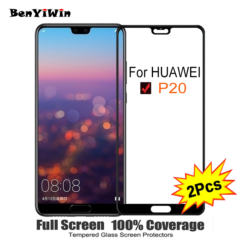 2PCS Full Cover Screen Protector Tempered Glass For Huawei P20 5.50