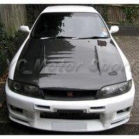 Car Accessories Carbon Fiber NI Style Hood Bonnet Fit For 1995-1996 R33 GTS Spec 1 Hood Car-styling