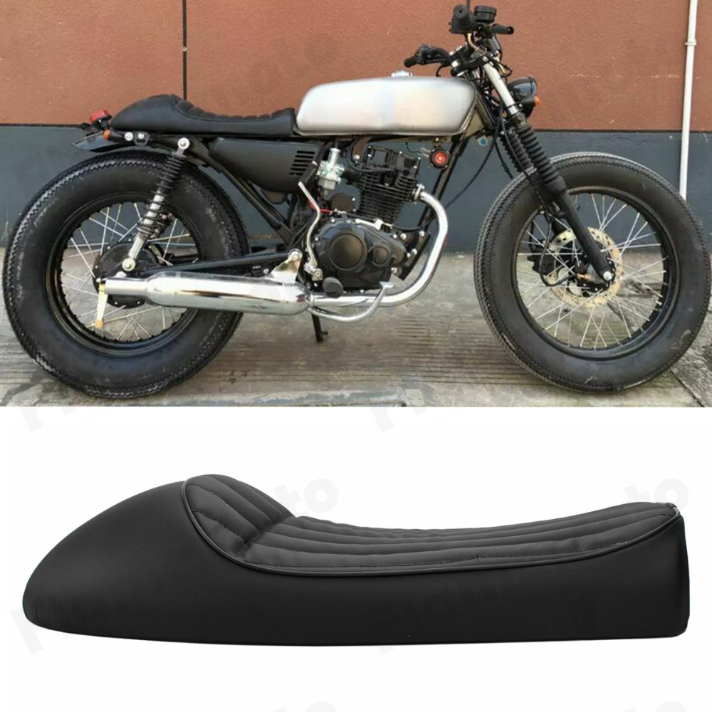 Motorcycle New Black Vintage Hump Cafe Racer Seat For CB200 CB350 CB400 CB500 CB550 CB650 On Aliexpress