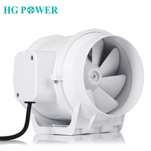 5'' 110V Silent Inline Duct Fan Exhaust Fan Hydroponic Air Blower Booster Fan for Home Bathroom Vent and Grow Room Ventilation