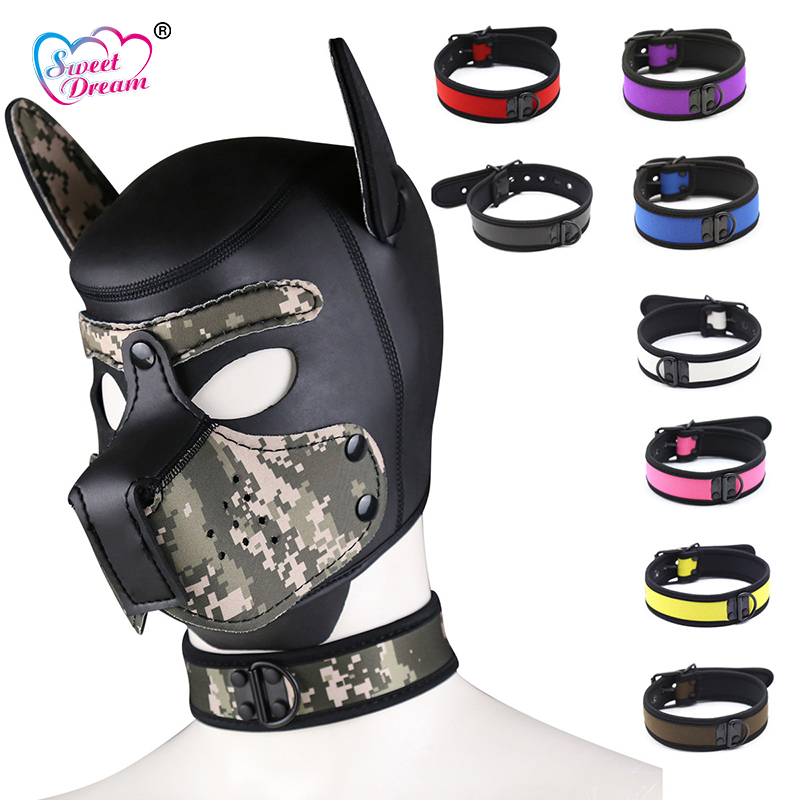 Sweet Dream Leather Neck <font><b>Collar</b></font> BDSM Bondage <font><b>Dog</b></font> <font><b>Collar</b></font> Slave Adult Game <font><b>Sex</b></font> Toys for Couple <font><b>Sex</b></font> Products Cosplay DW-198 image