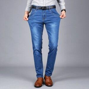 Image 4 - Sulee Merk Mannen Jeans Maat 28 om 42 Blauw Stretch Denim Slim Fit Mannen Jean voor Man Broek Broek jeans