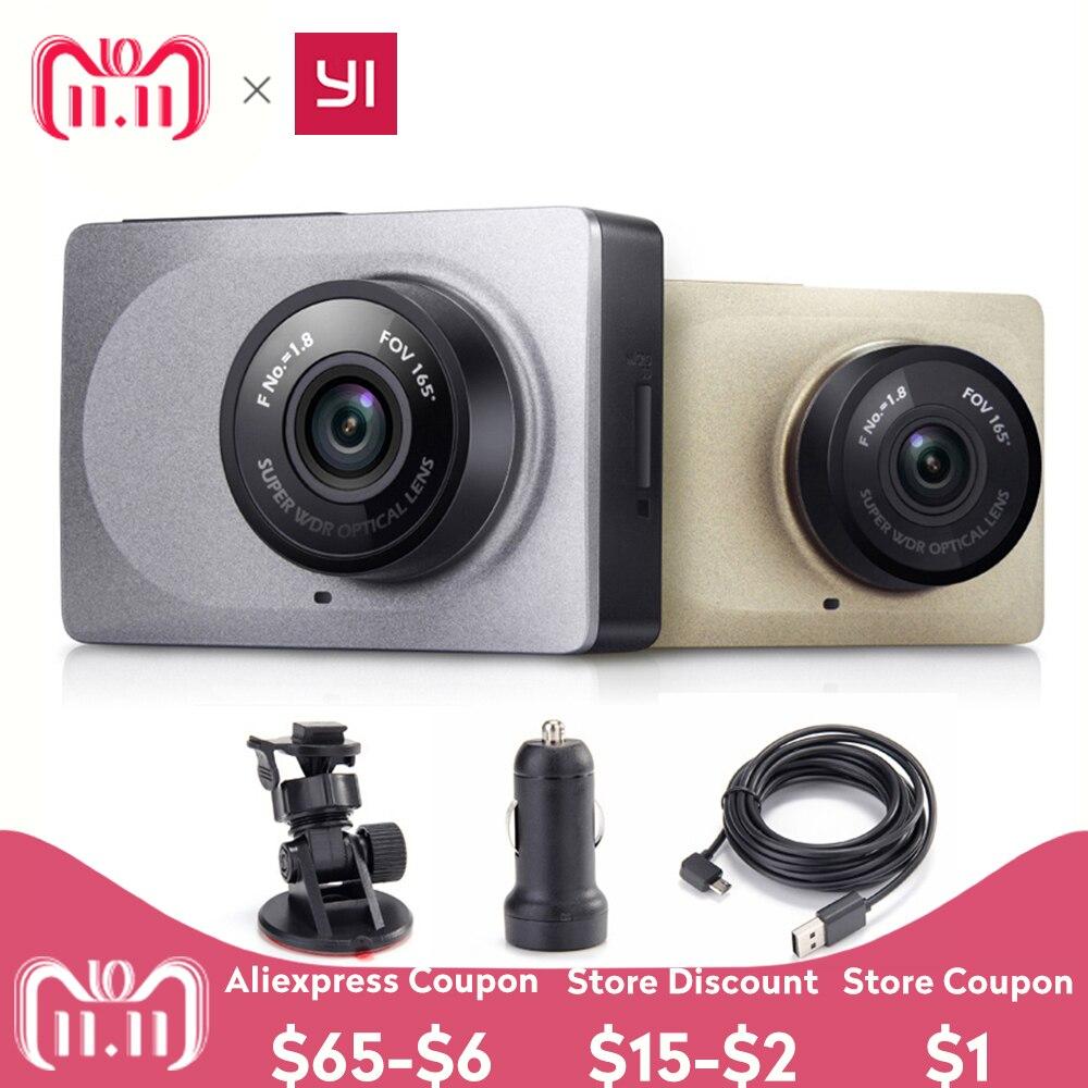 YI Dash Cámara 2,7 pantalla Full HD 1080 P 60fps 165 grados de ángulo amplio de coche DVR Dash Cam con G-Sensor noche internacional visión