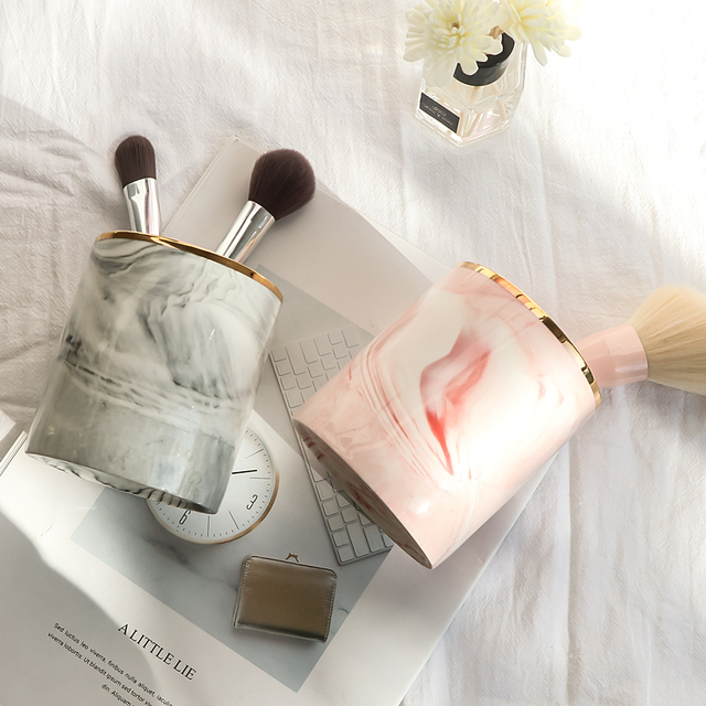 Modern Marble Brush Holder