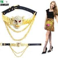 Collana da india dichiarazione di stile di estate di marca leopardo animale ciondolo in oro choker collane per le donne