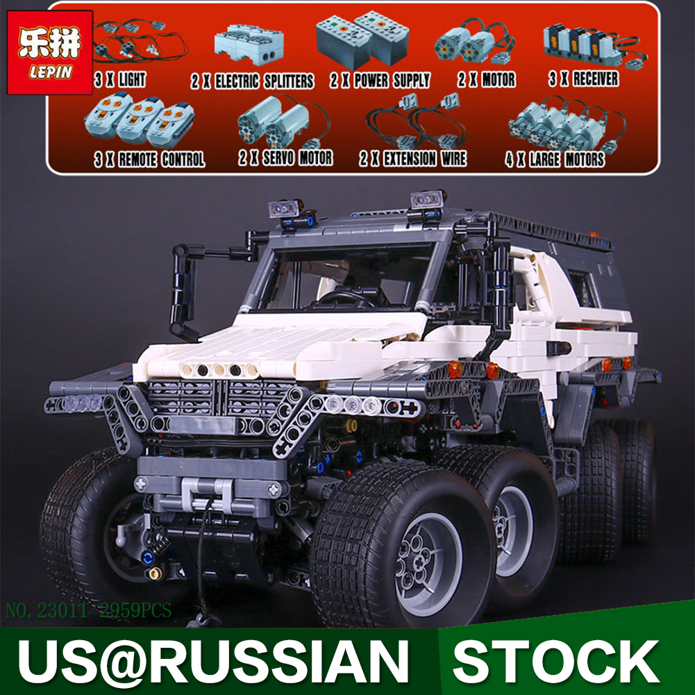 2017 New LEPIN 23011 2959 Pcs Technic Series Off-road vehicle Model Building Kits Block Bricks Compatible Toys new lepin 22001 pirate ship imperial warships model building kits block briks toys gift 1717pcs