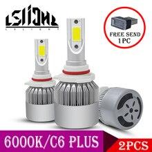 LSlight רכב פנס LED H4 H7 H11 H1 H8 9005 9006 880 H27 9004 9007 H13 9012 HB2 HB3 HB4 LED אוטומטי הנורה 12V 55W 6000K 12000LM