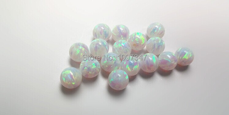 Image 2 - Opal  Bead 3mm/4mm/5mm/6mm/7mm Opal Synthetic Beads White Fire Synthetic Opal Ball-in Beads from Jewelry & Accessories
