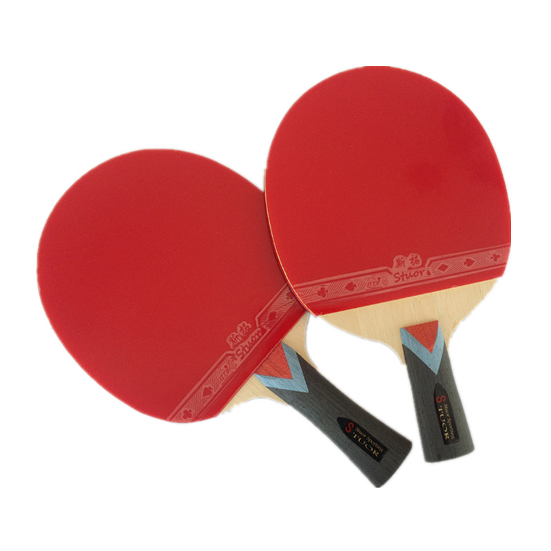 Table Tennis Rackets Capable Table Tennis Bat Racket With Blue Nano Graphite Ping Pong Paddle Racket Set With Bag Double Face Pimples In