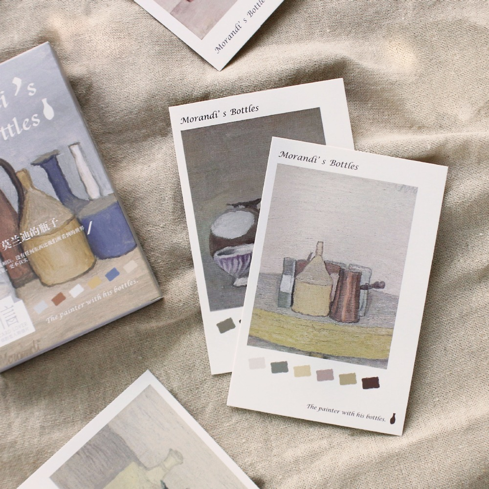 30 Sheets/Set Creative Morandi's Bottles Postcard /Greeting Card/Message Card/Birthday Letter Envelope Gift Card envelope set special wedding invitation card invitations red individuality creative gift bag papers had invitation envelope