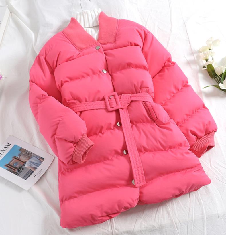Taille Veste rose Section Hiver Coton Sauvage cou Single khaki black Nouvelle Rembourré breasted V Casual Pain Longue Slim Apricot Mode green qwqZU01