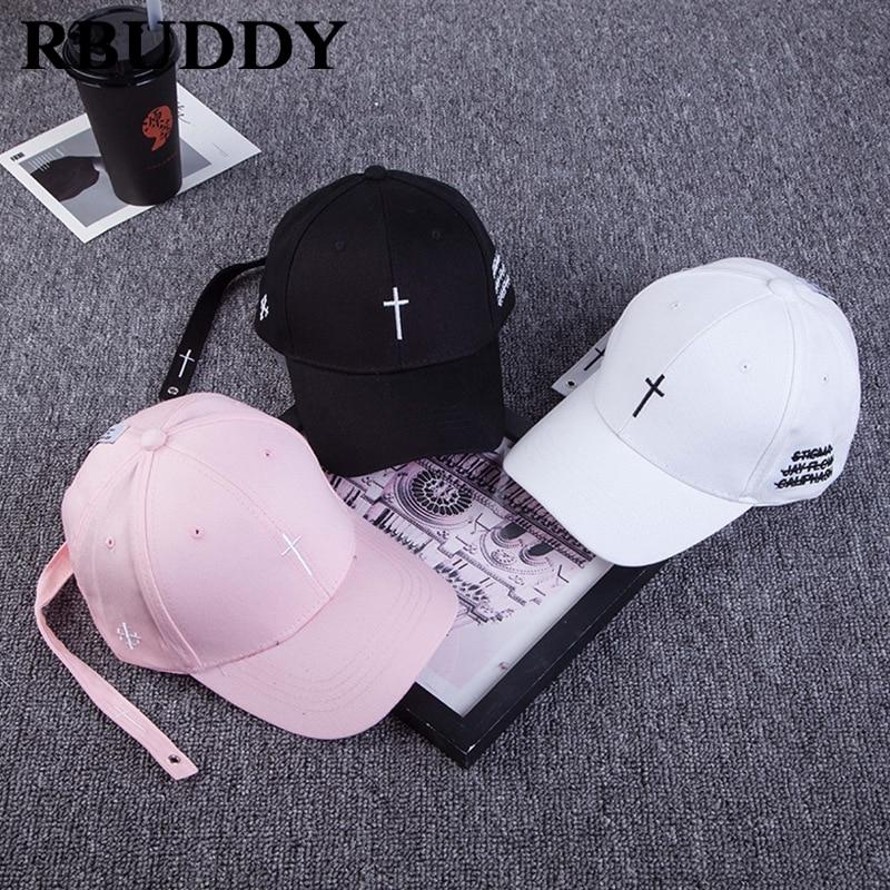 RBUDDY 2019 Cross Baseball Caps Letter Hip Pop Snapback Spring Summer Trucker Dad Hat For Women Men Adjustable Gift Classic Hat