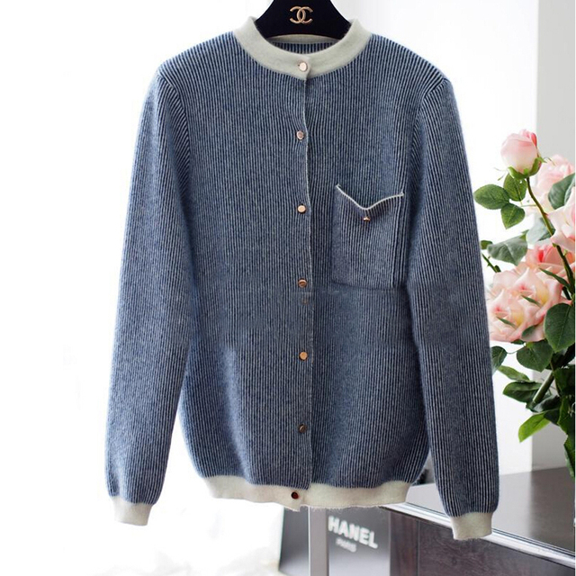 Fashion Trend Real Mink Wool Cardigan Sweater Women Hot Selling