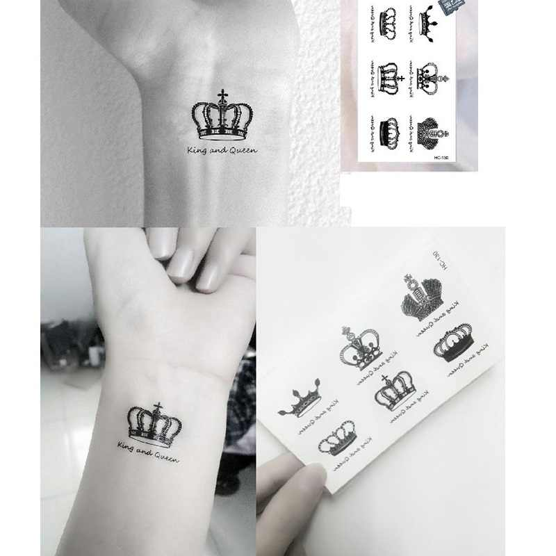 Detail Feedback Questions About 2pcs King And Queen Tatto Stickers