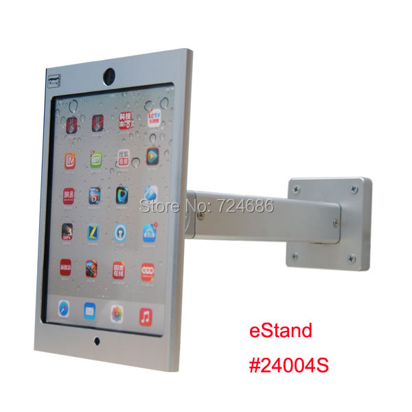 wall mount for mini ipad metallic frame stand antitheft enclosure holder display kiosk brace