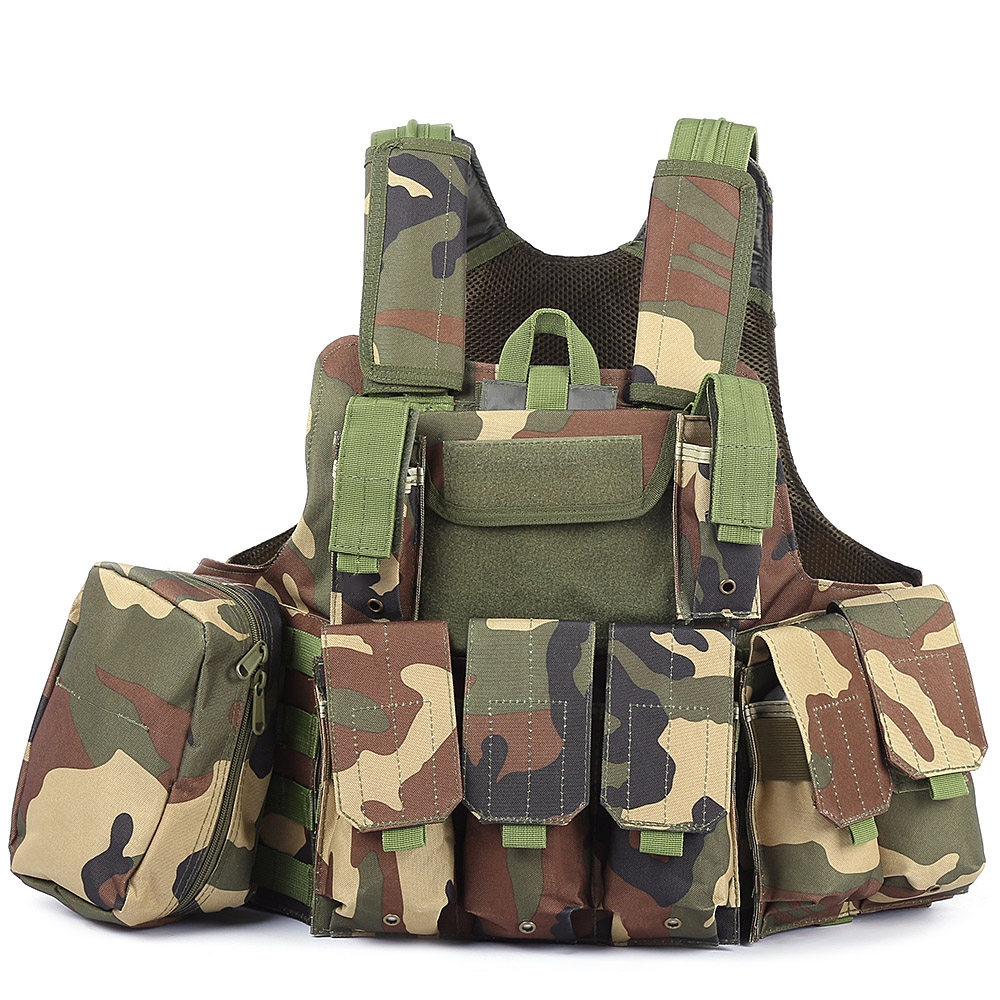 Outlife Phantom tactique militaire grève Combat Airsoft Molle balle assaut plaque transporteur gilet léger confortable - 4