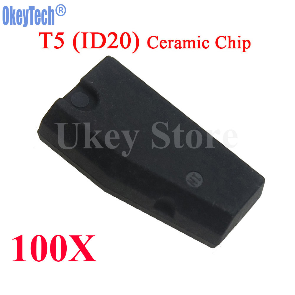 OkeyTech 100pcs/lot ID T5 20 Transponder Chip Blank Carbon