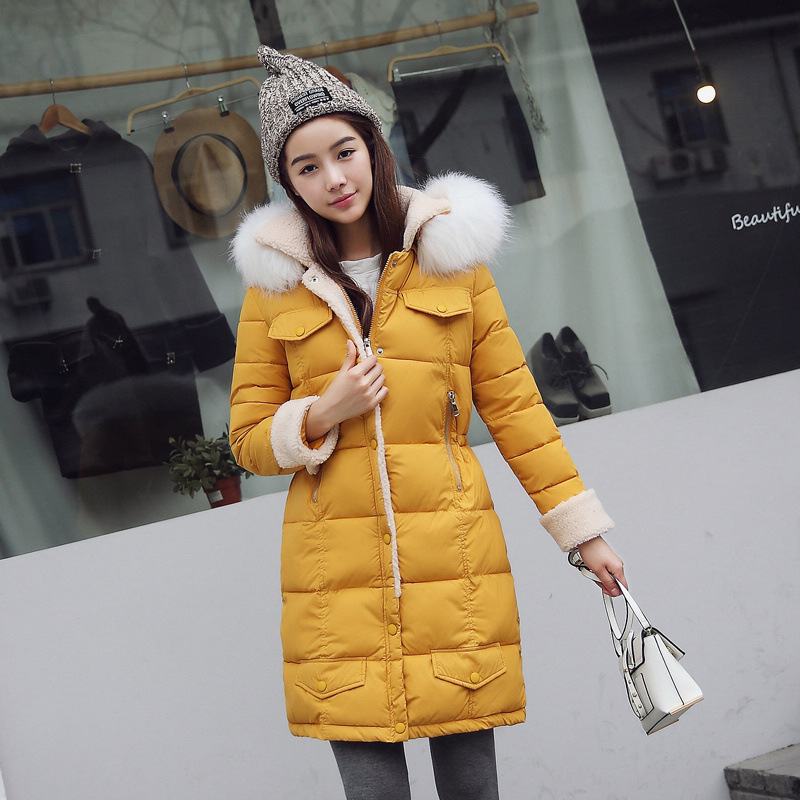 2016 The Latest Winter Women Wool-Like Hooded  Down Jacket High Quality  Pure Color Zipper Belt Coat Big Yards Slim S012 Fashion the life and contributions of negus mikael of wollo