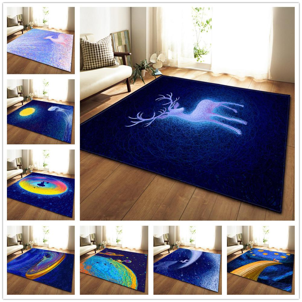 3D Animal Printed Carpet Soft Flannel Tea Table Anti-slip Mats Kids Room Play Crawl Carpets for Living Room Bedroom Area Rugs(China)