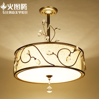 Krótki amerykański kryształ sufitu światło lampy nordic krótkie tkaniny bar licznik