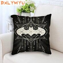 Linen Black Seat Cushion for Sofa Chair Superhero Batman Superman Logo Graffiti DC Nordic Throw Pillow Home Decor